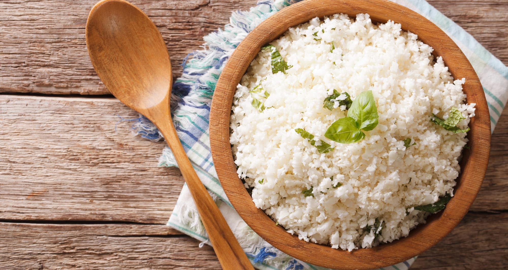 bowl of cauliflower rice