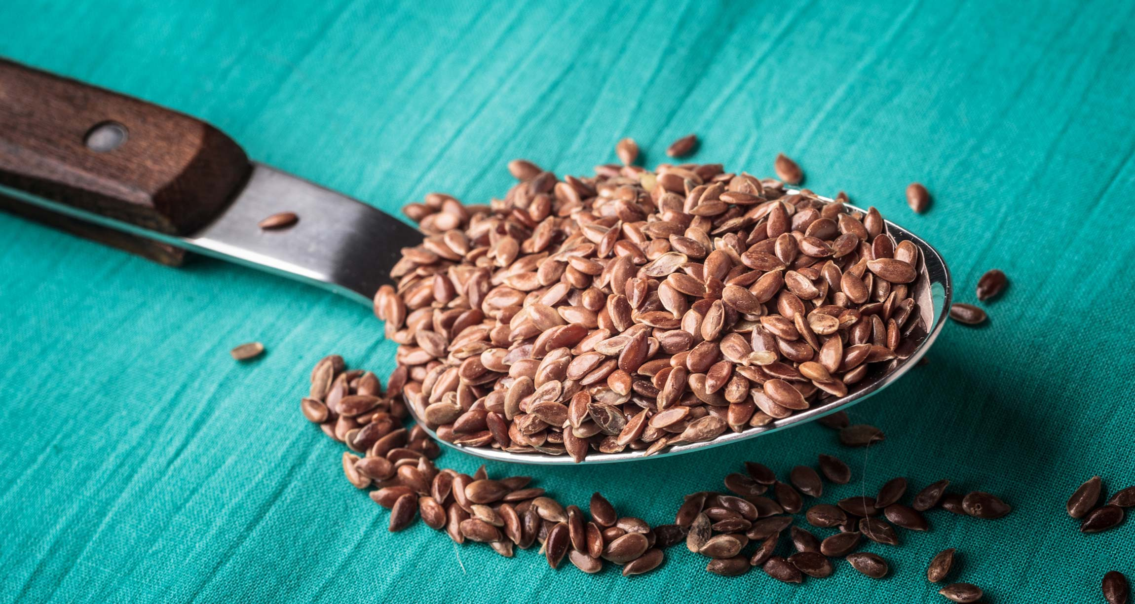 spoonful of flaxseeds