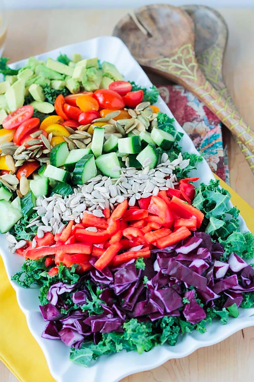 Gericht mit veggie loaded kale