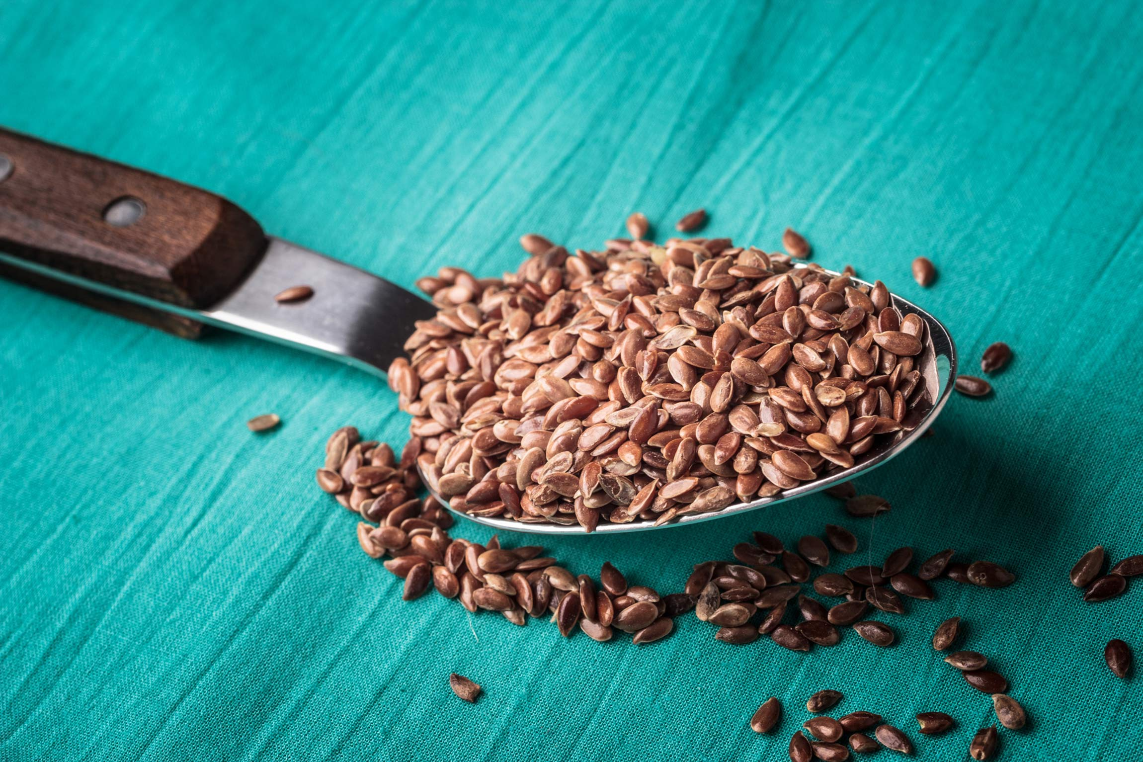 A spoonful of flax seeds