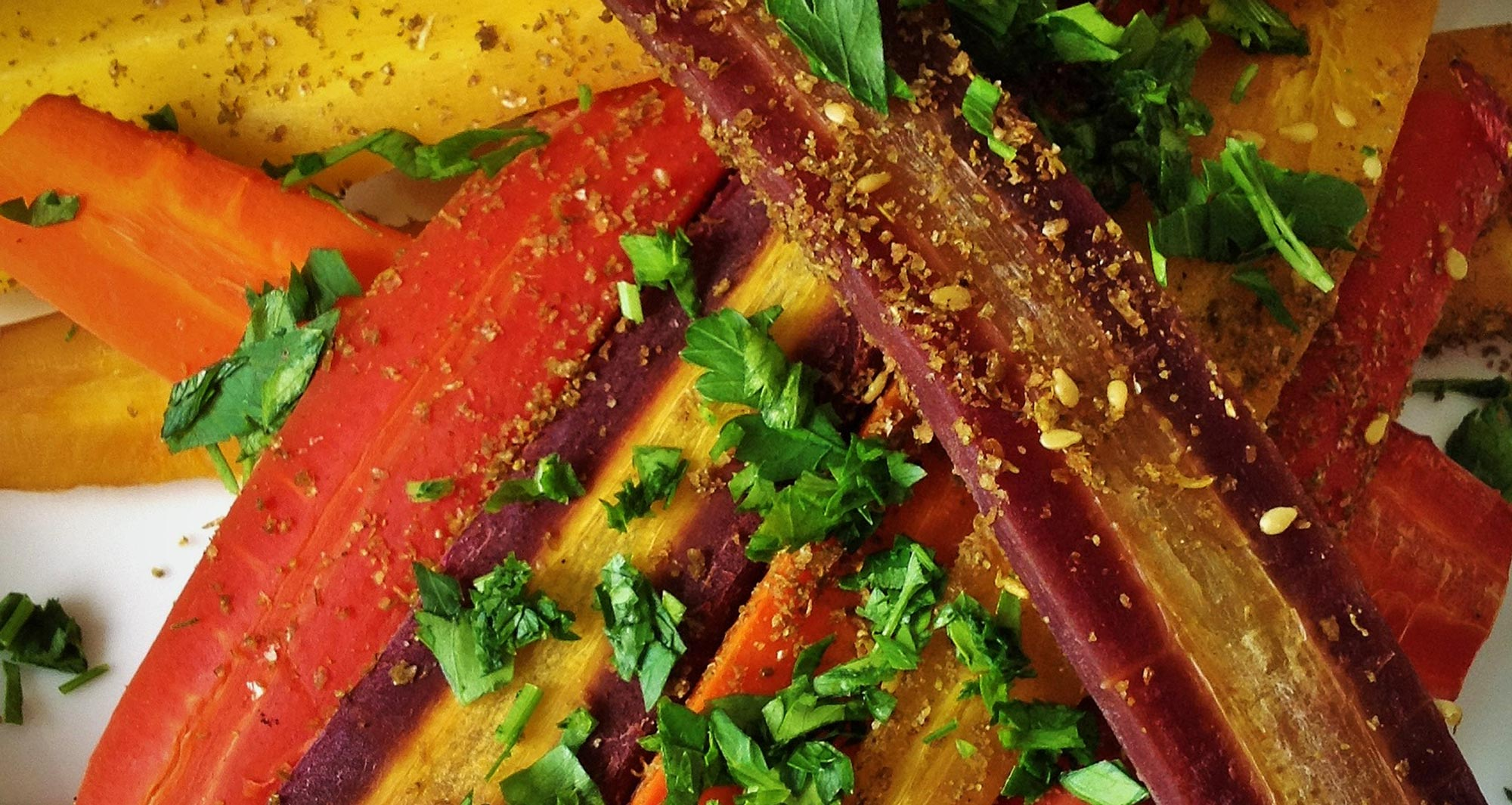 Revolutionary Recipe: Za'atar Spiced Rainbow Carrots