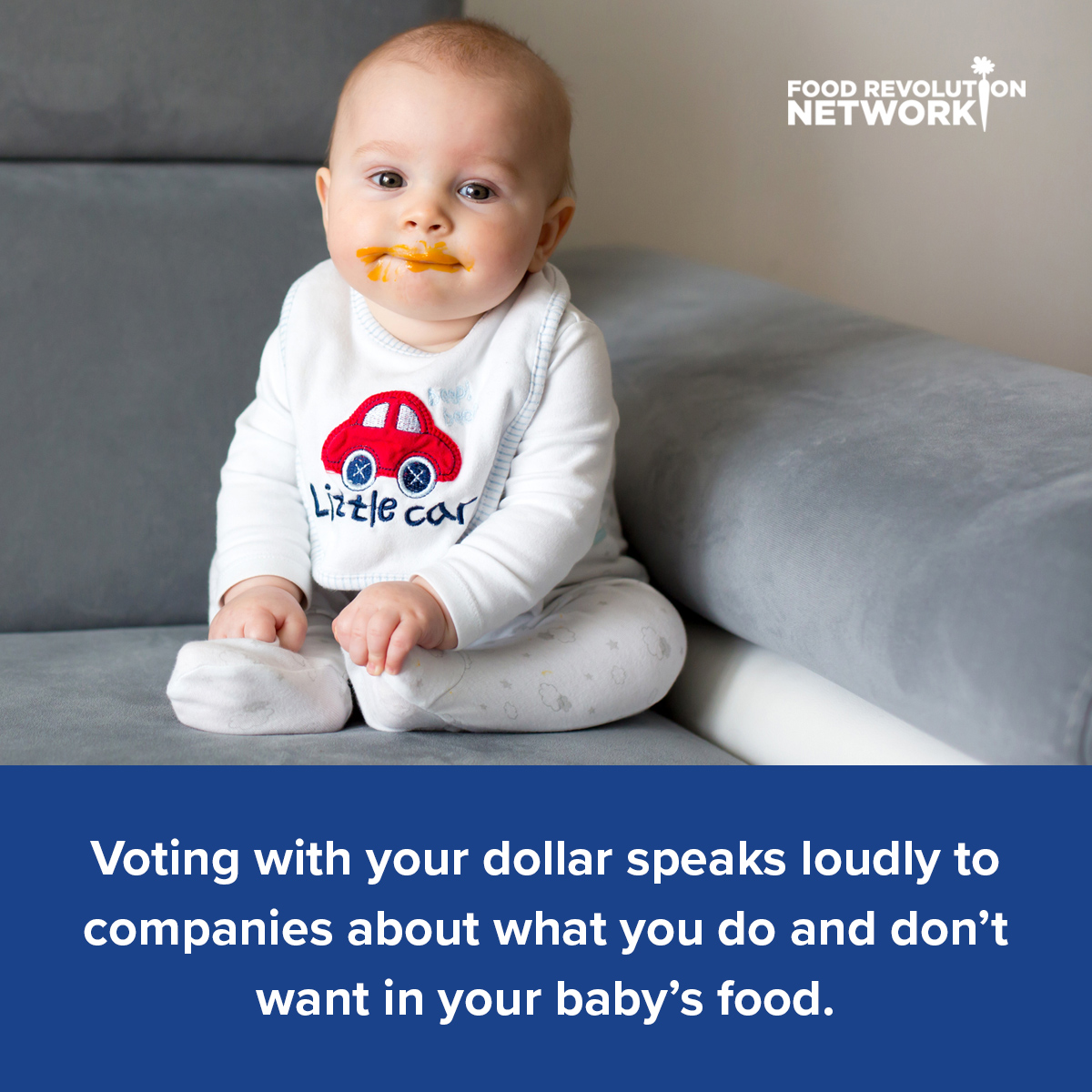 Voting with your dollar speaks loudly to companies about what you do and don't want in your baby's food.