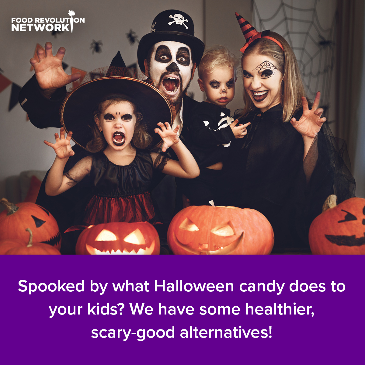 Spooked by what Halloween candy does to your kids? We have some healthier, scary-good alternatives!