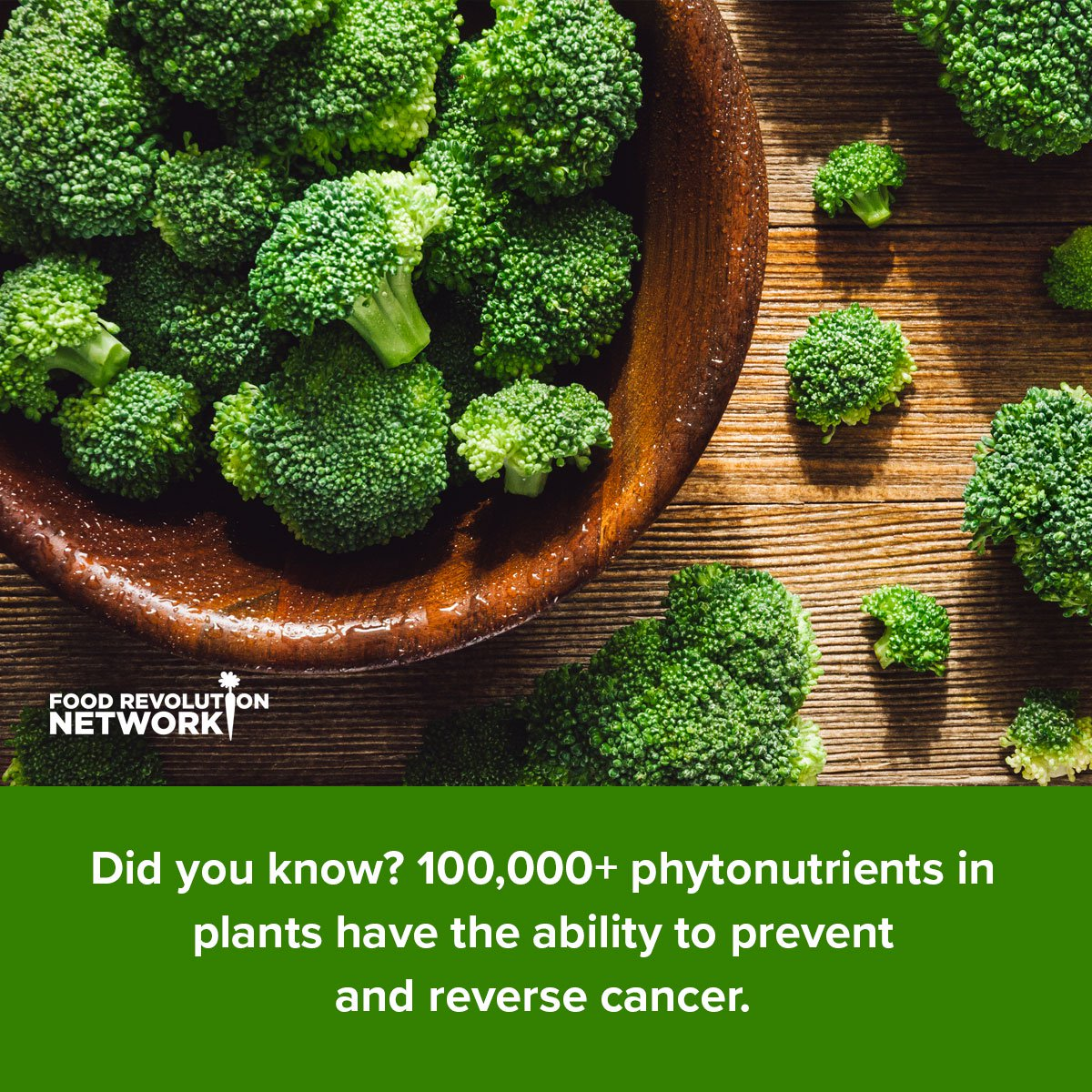 Did you know? 100,000+ phytonutrients in plants have the ability to prevent and reverse cancer.