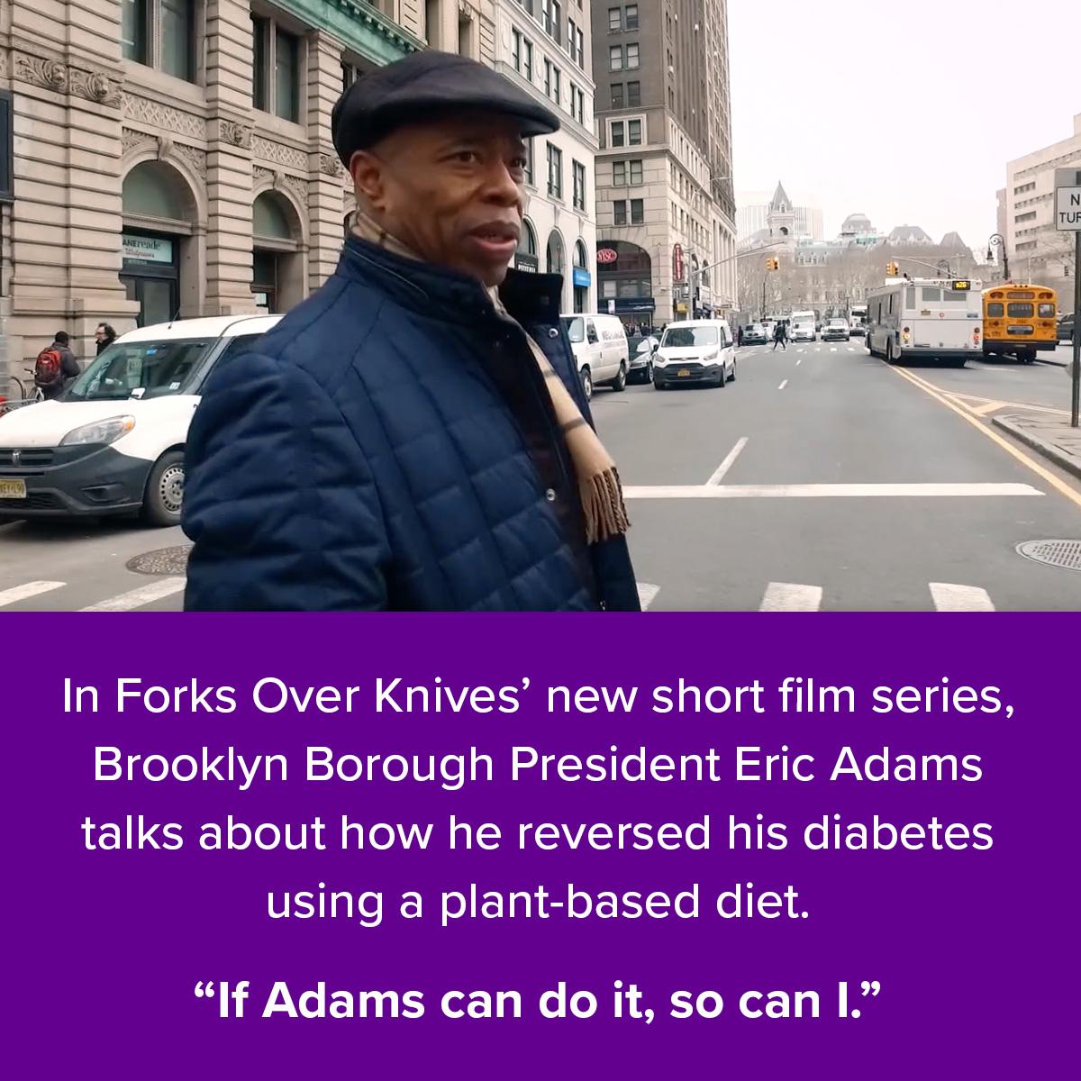 Brooklyn borough president Eric Adams reversing diabetes story