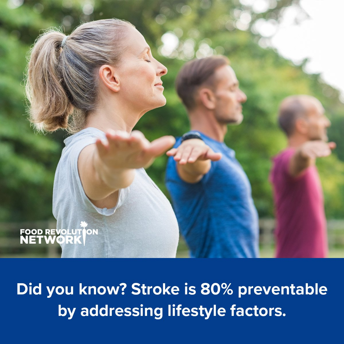 Did you know? Stroke is 80% preventable by addressing lifestyle factors.