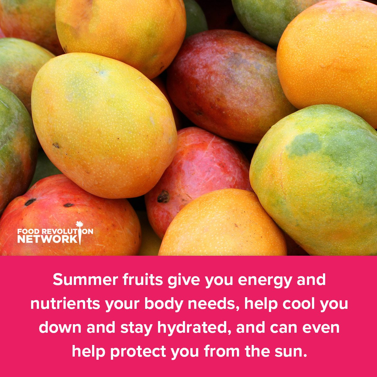 Summer fruits give you energy and nutrients your body needs, help cool you down and stay hydrated, and can even help protect you from the sun.