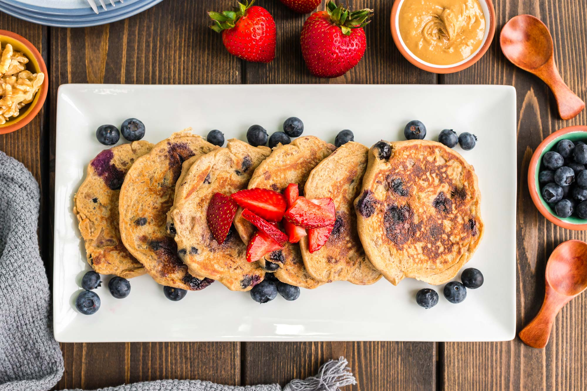 Blueberry walnut banana pancakes - magnesium health benefits