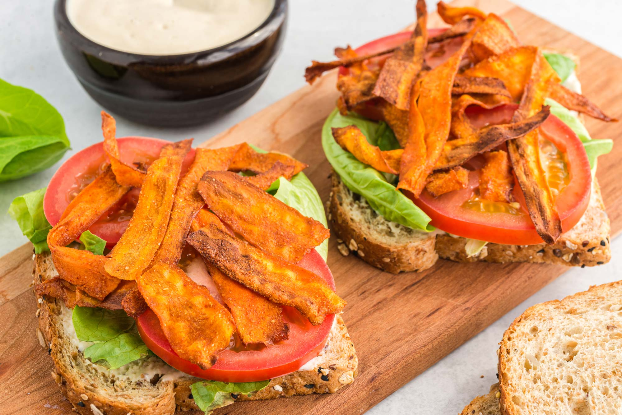 carrot bacon blt