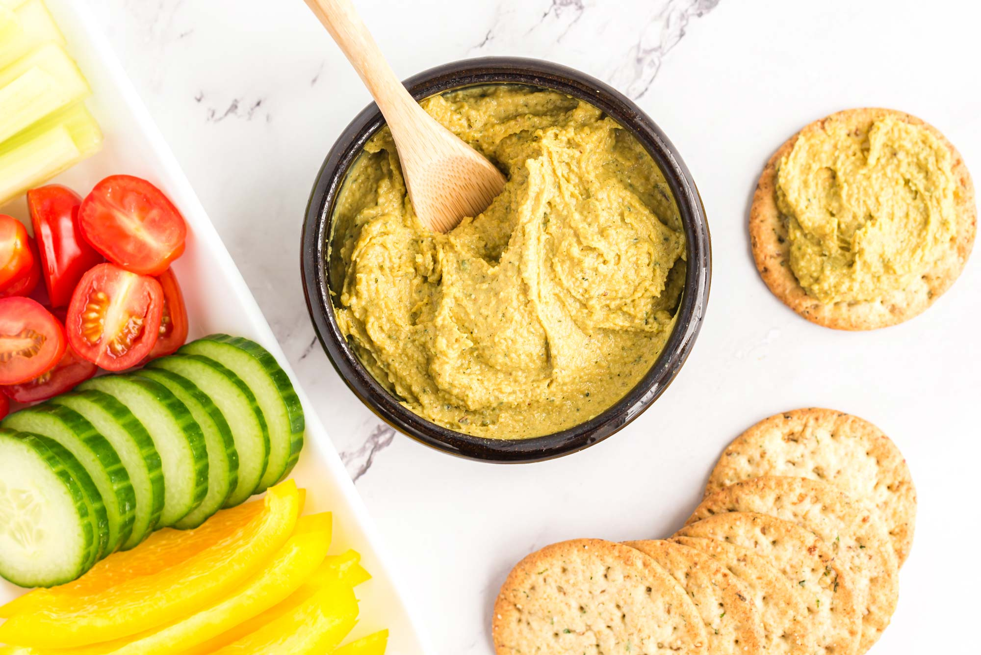 Garlicky cheesy hemp seed spread