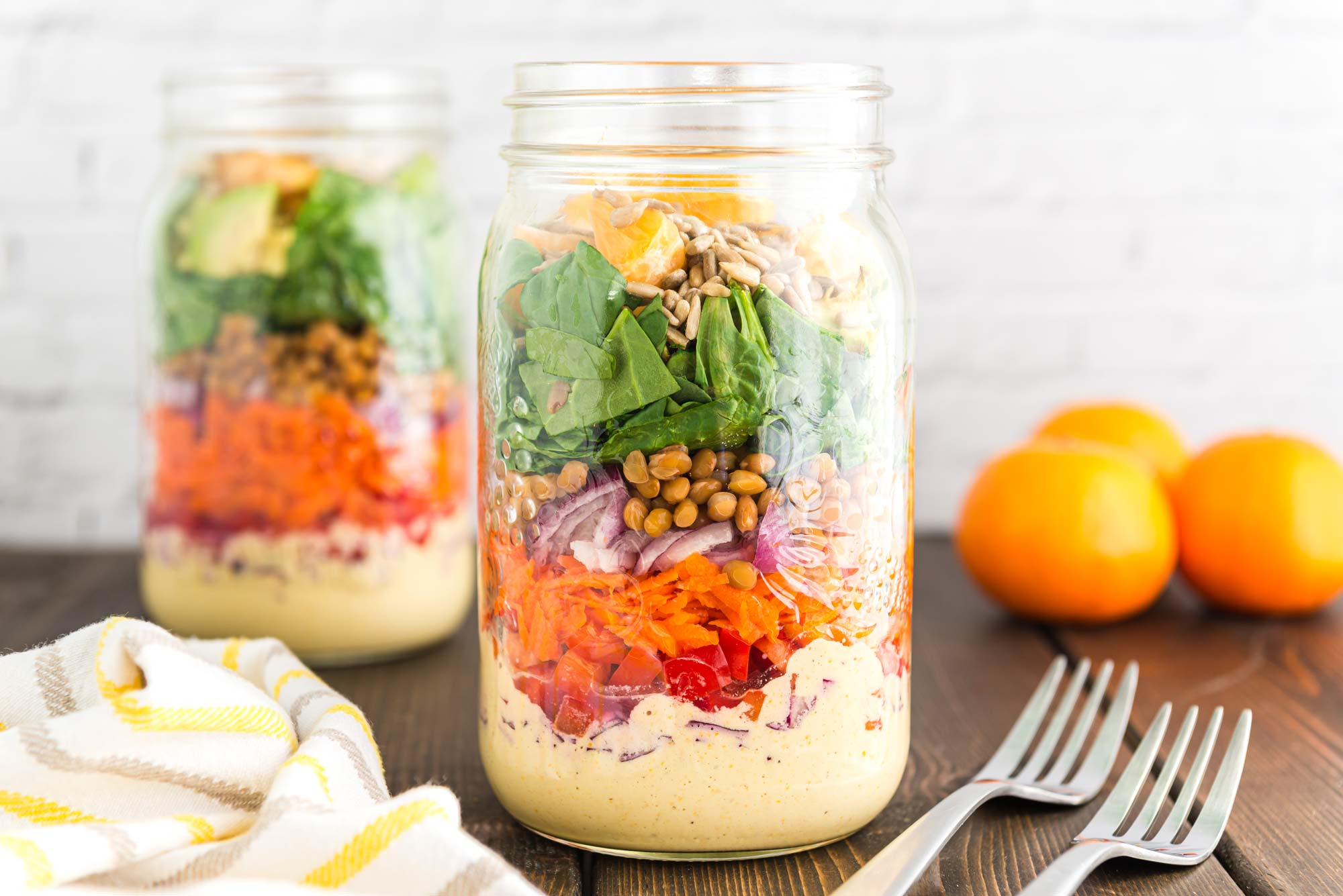 Citrus salad in a jar - magnesium health benefits