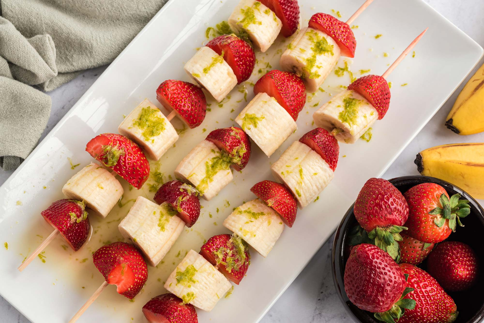 strawberry banana fruit kebab
