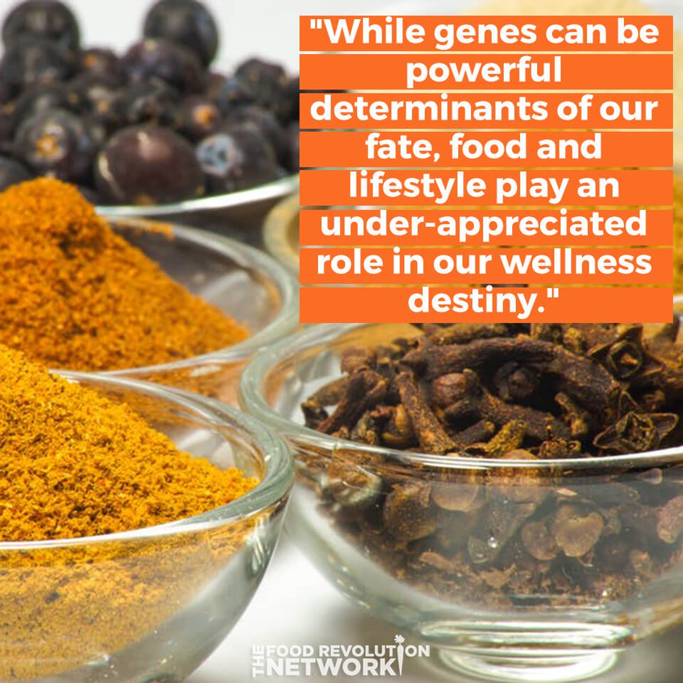 Quote about how food affects your wellness destiny