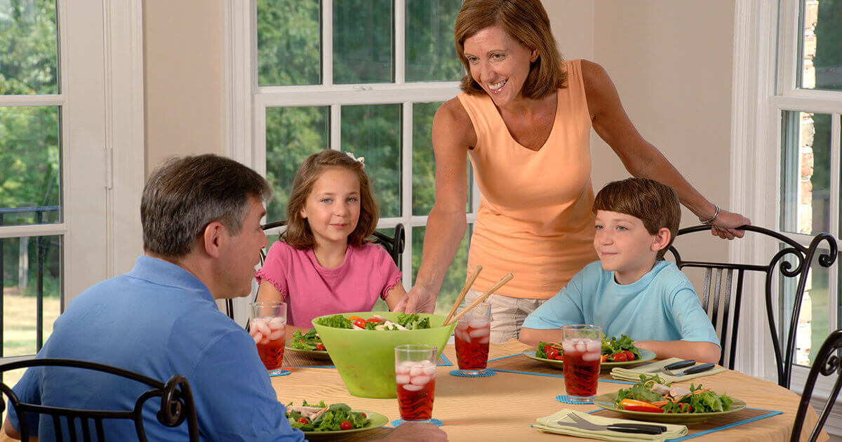Getting friends and family to eat healthy food