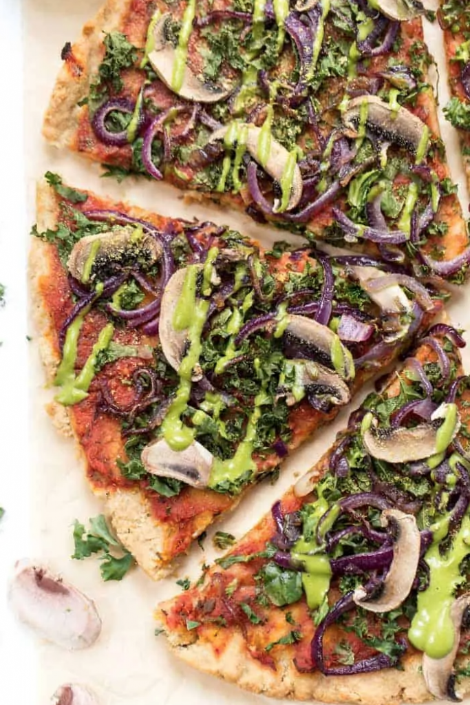 Grain Free Plant Based Pizza from Simply Quinoa