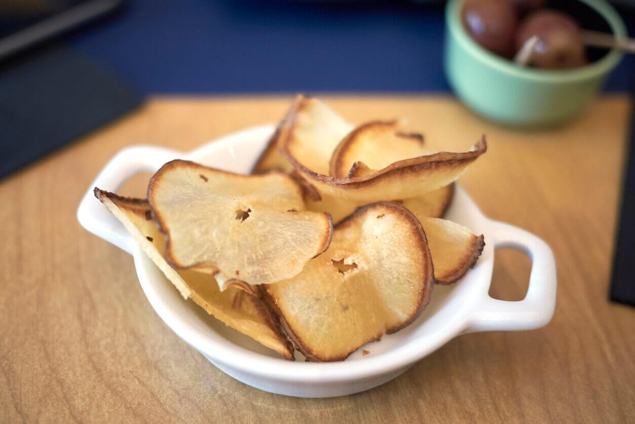 Jerusalem artichokes chips