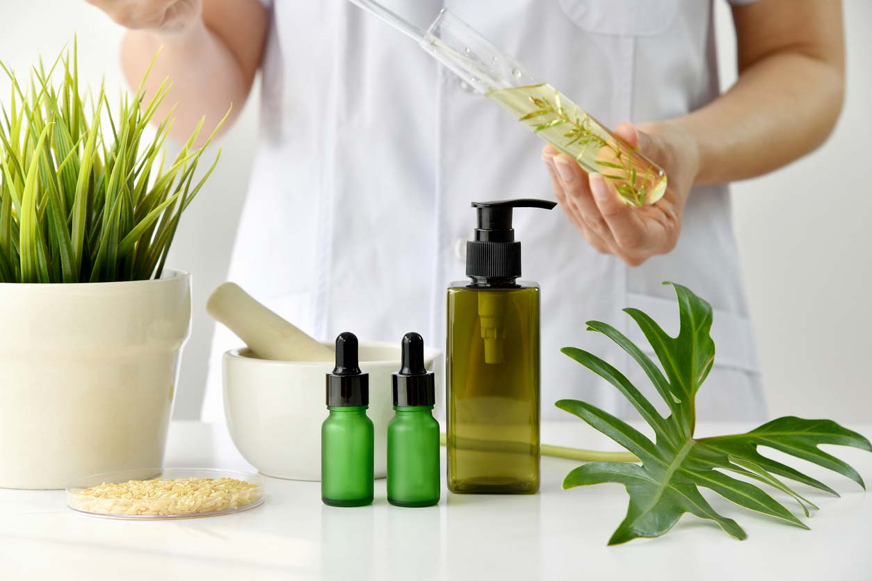Making skincare products with natural ingredients