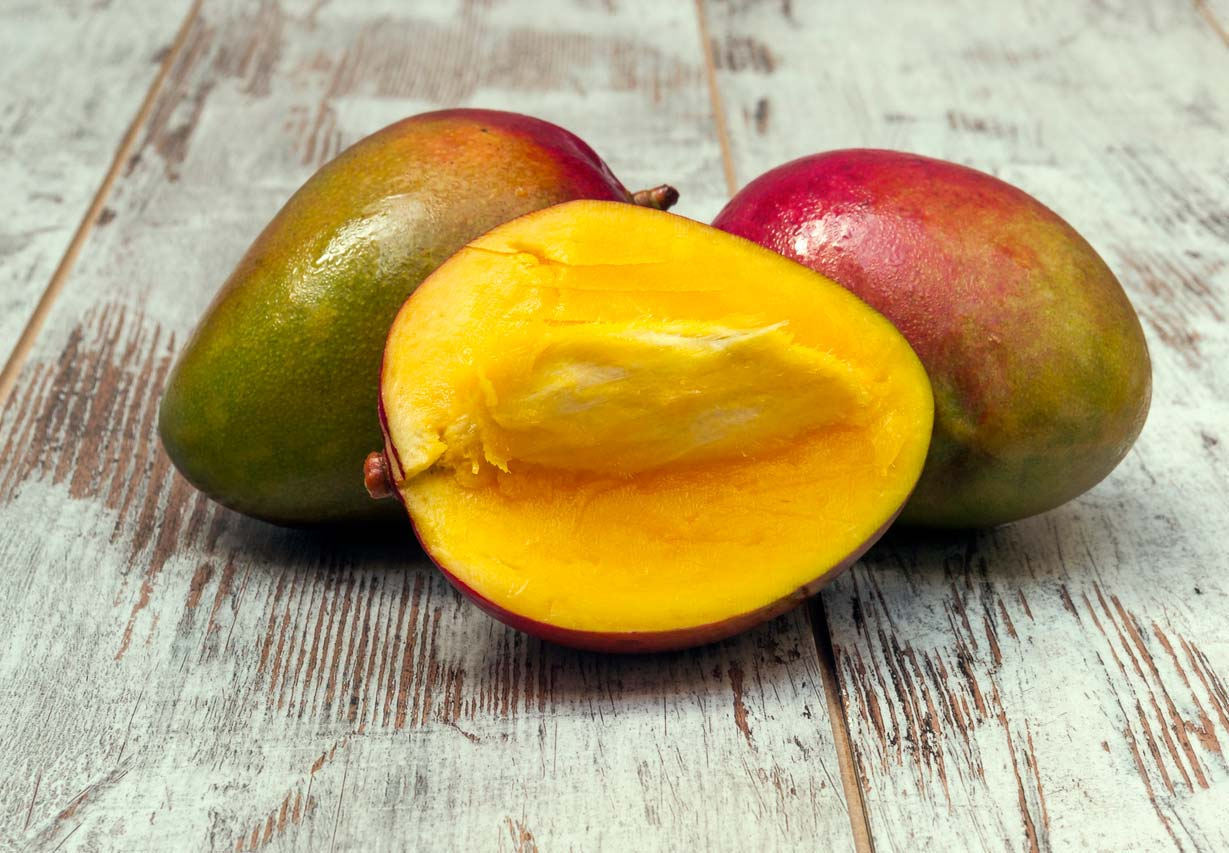 Cut open mango