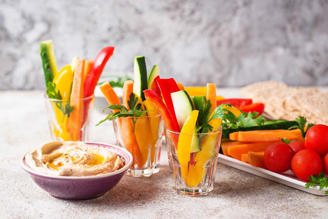 crunchy healthy snacks on display