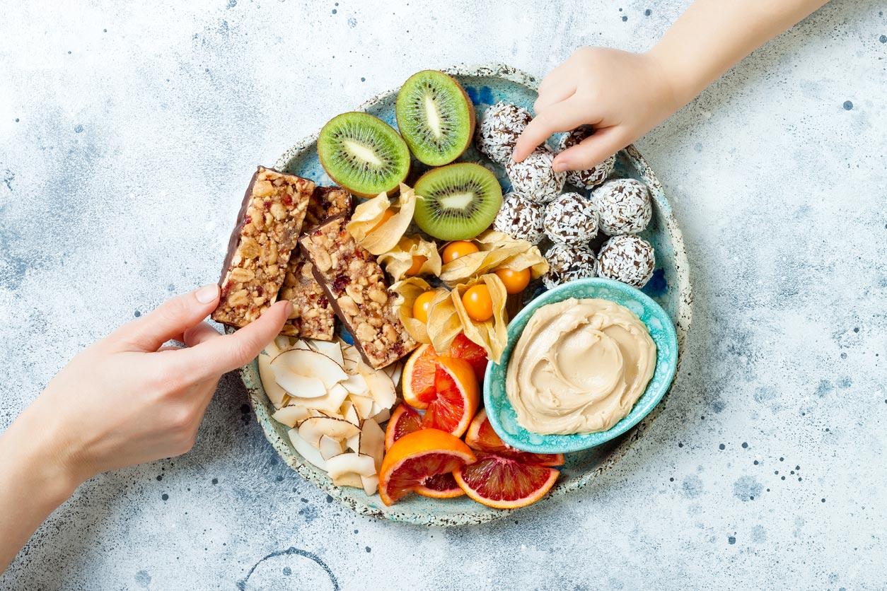 vegan snack plate