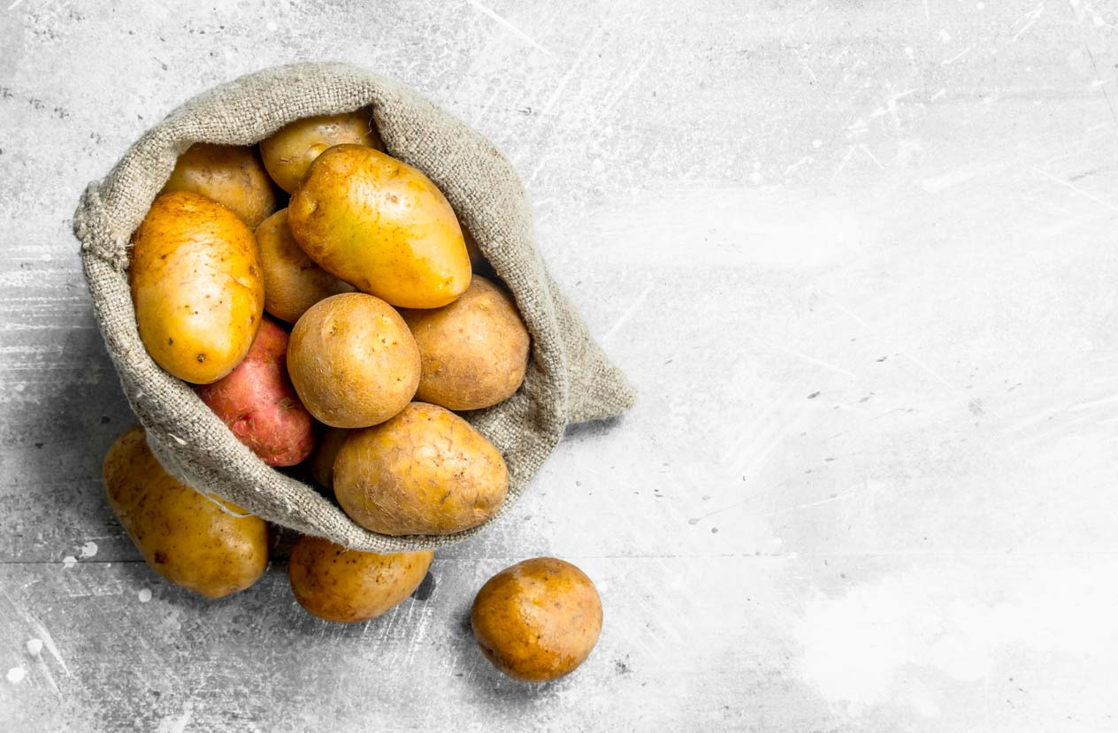 potatoes in sack
