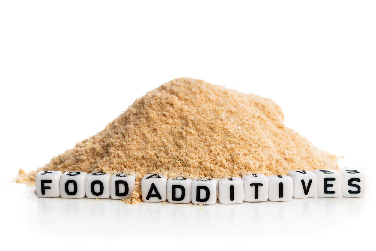 concept showing appearance of food additives