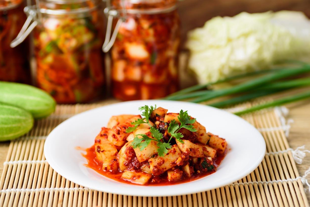 kimchi korean food on plate