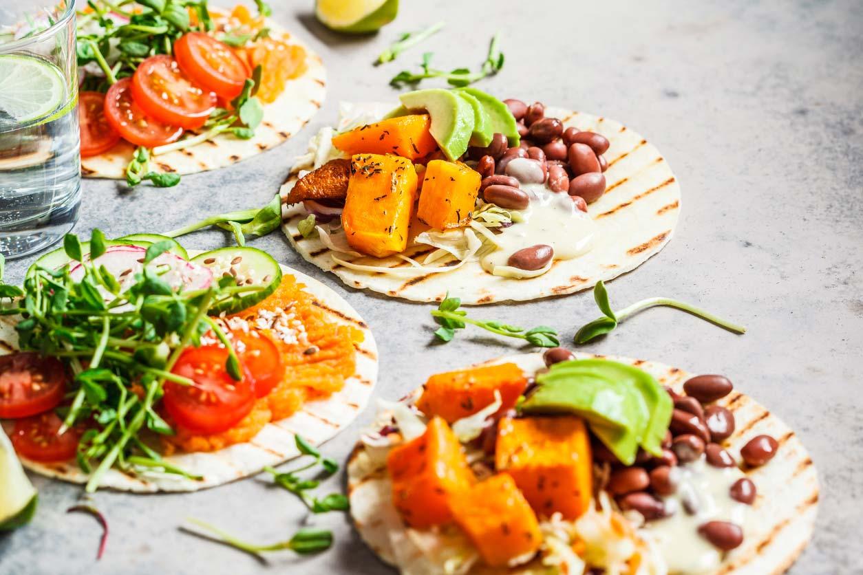 open vegan tortilla wraps