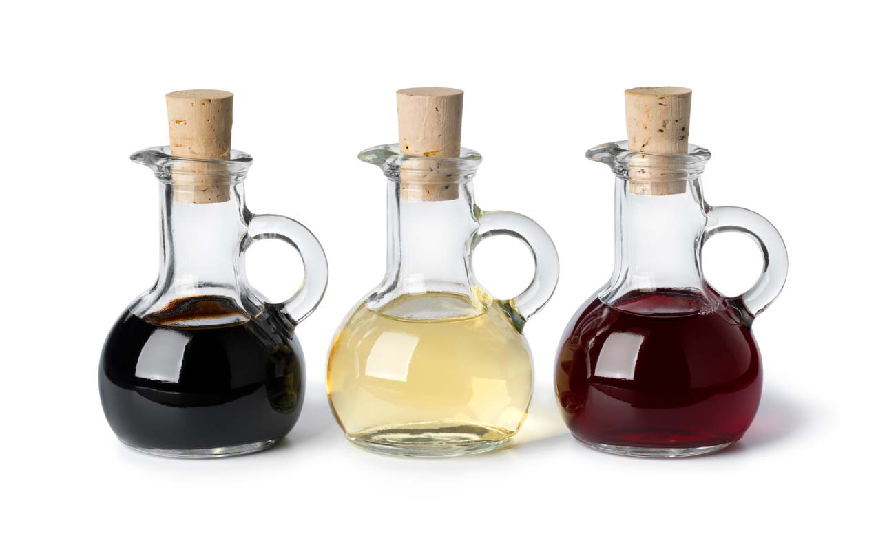 3 types vinegar in serving jars