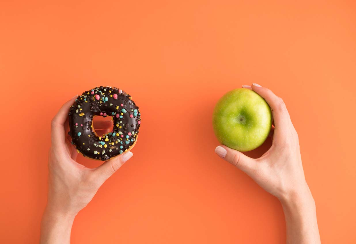 Donut vs apple