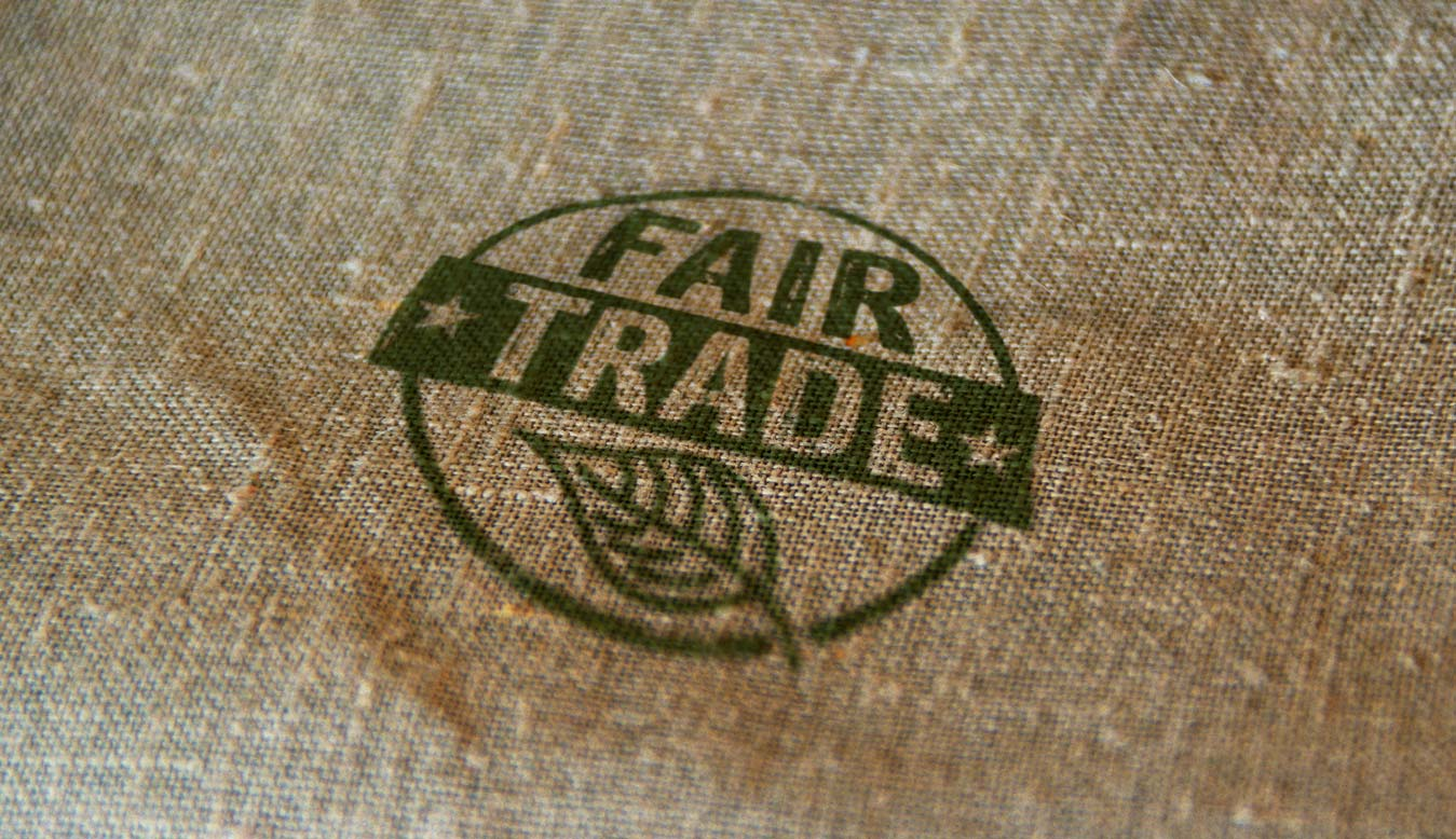 fair trade stamp on fabric
