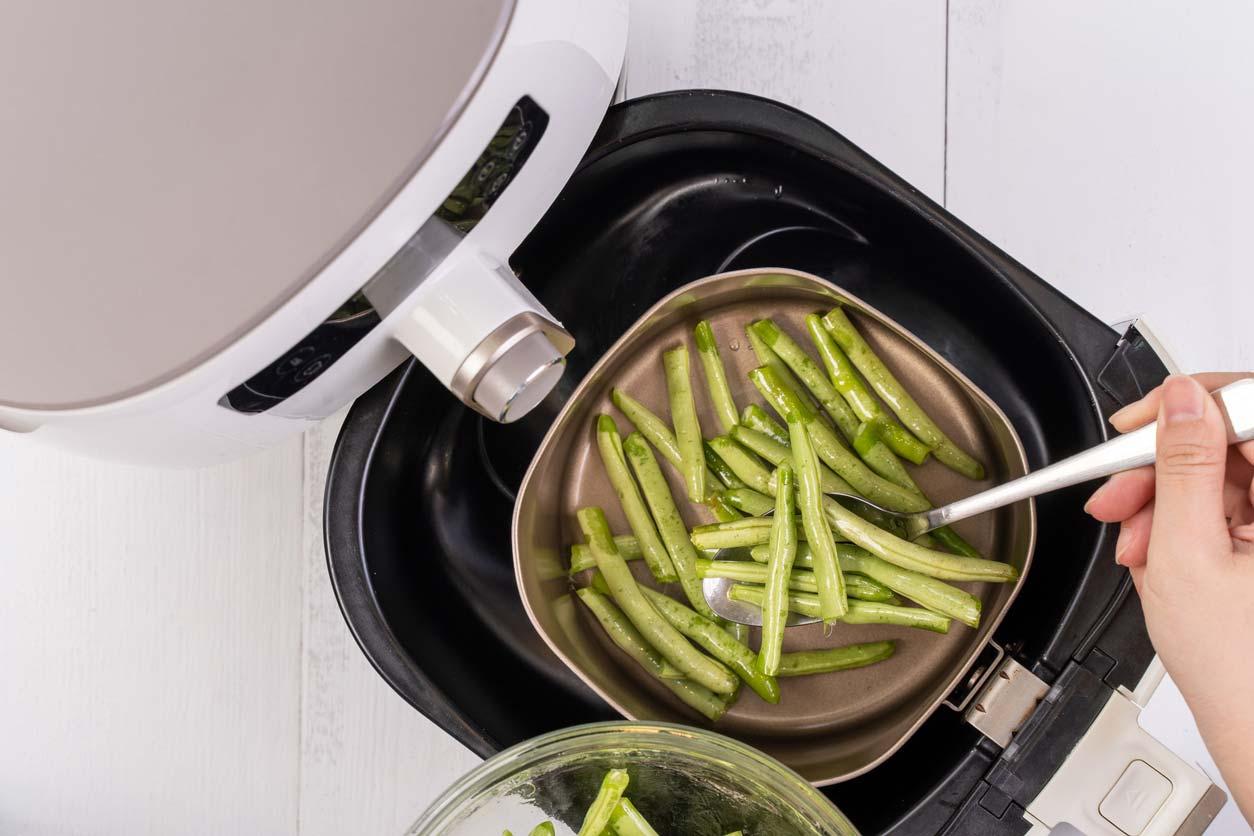 prepping green beans in air fryer