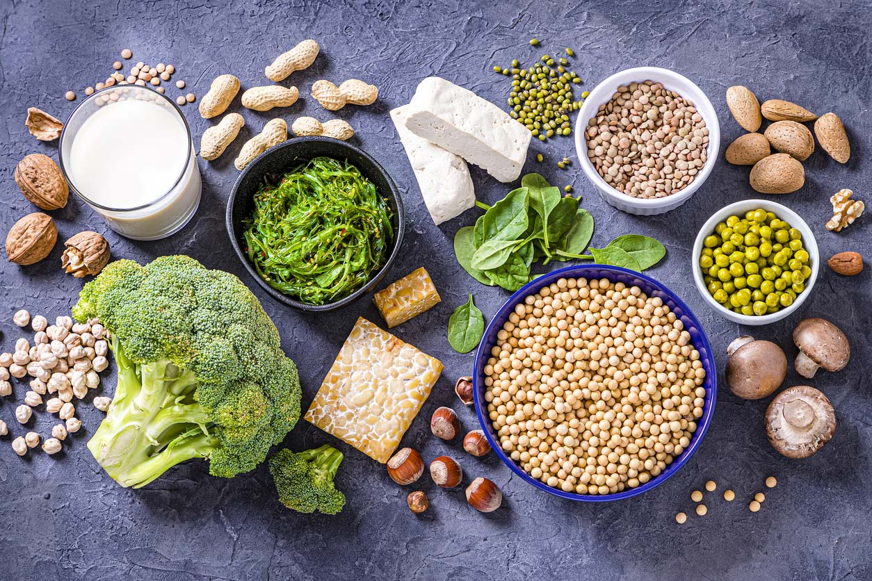 Protein and calcium-rich plant foods for vegan bone health