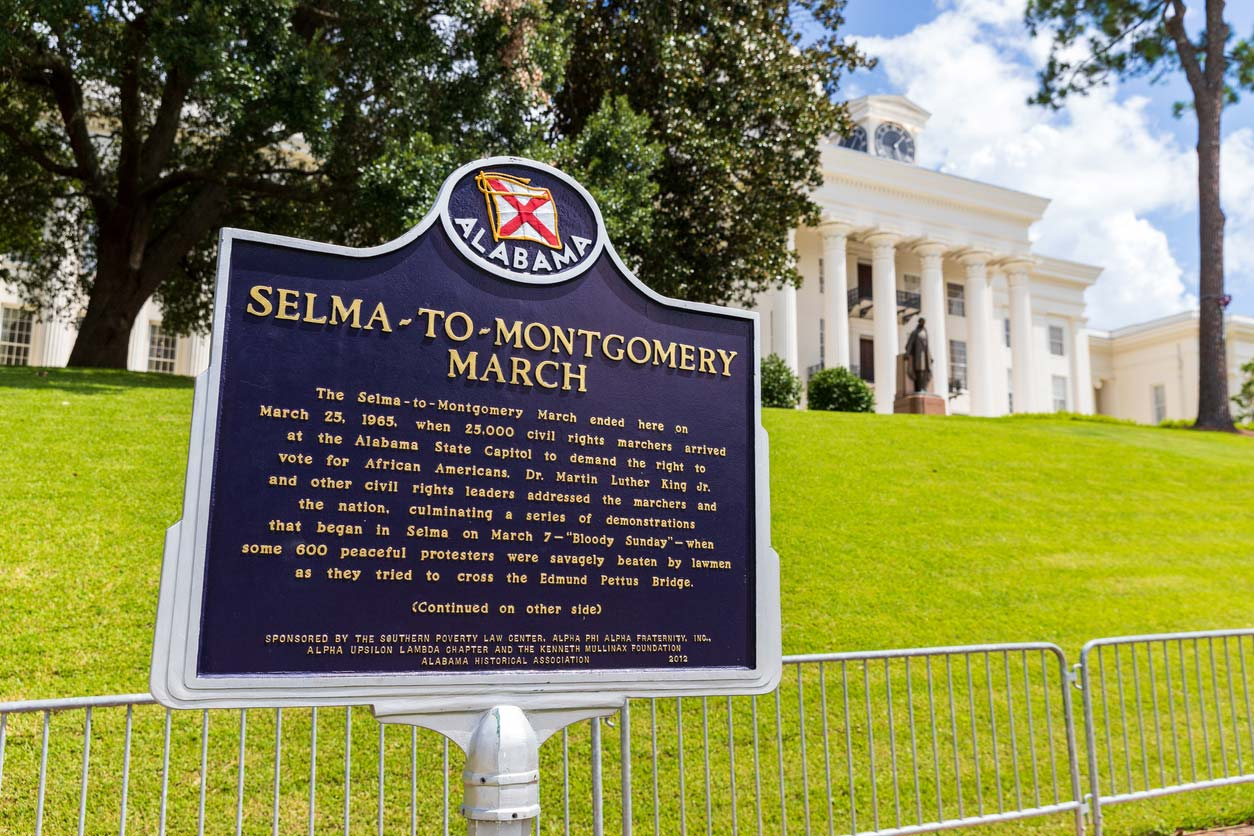 selma to montgomery march historical marker