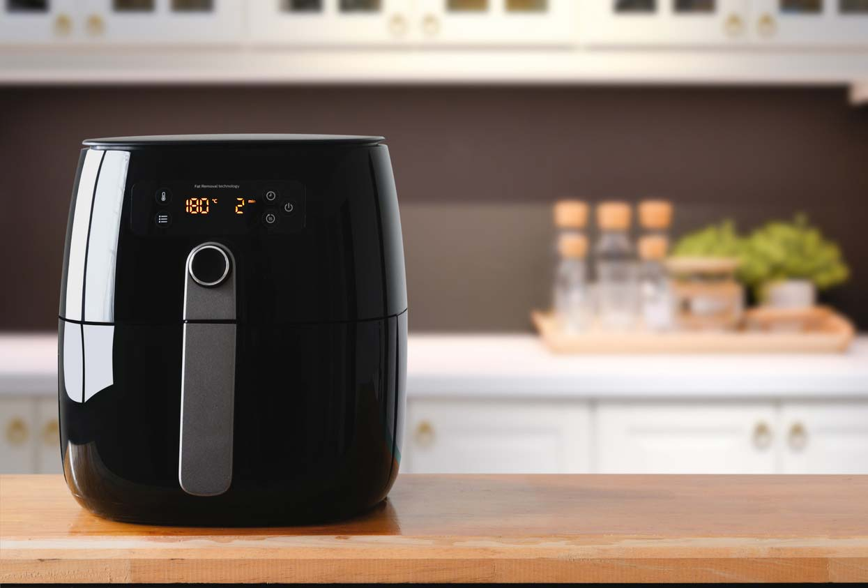 air fryer on kitchen counter