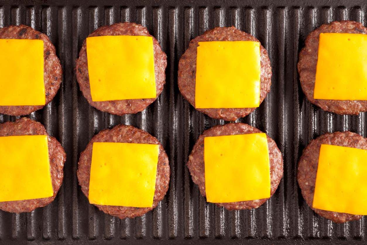 hamburger patties with cheese - a favorite summer food