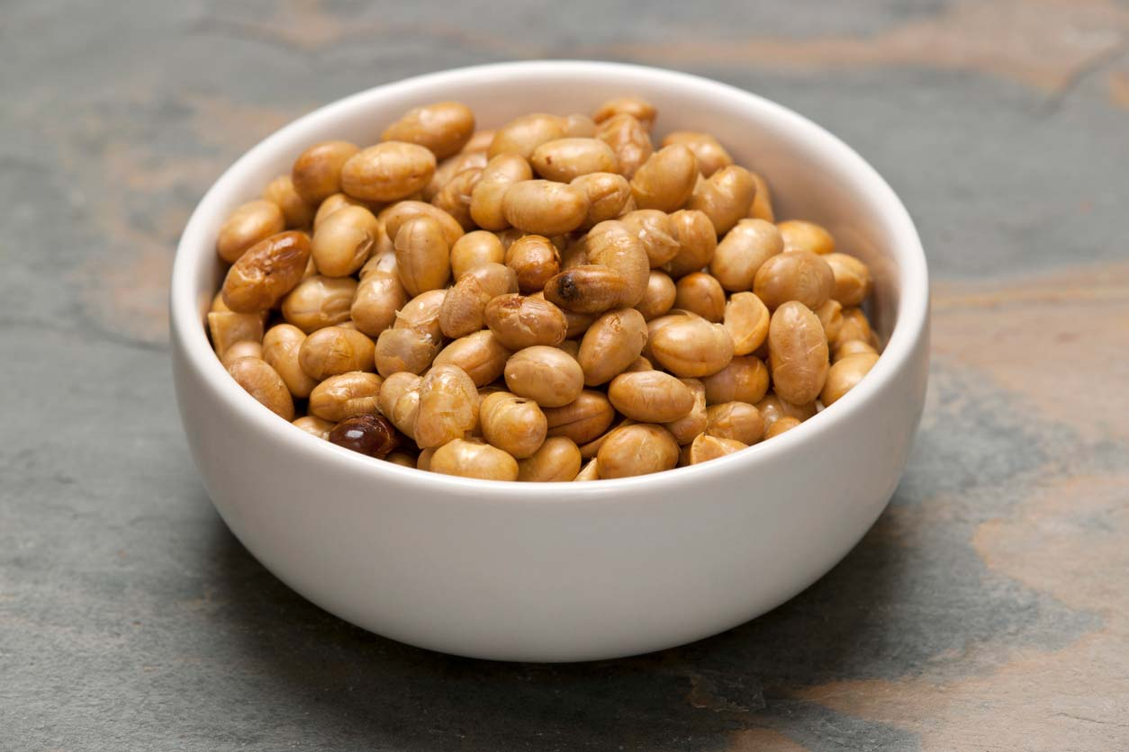 Soy nuts in bowl