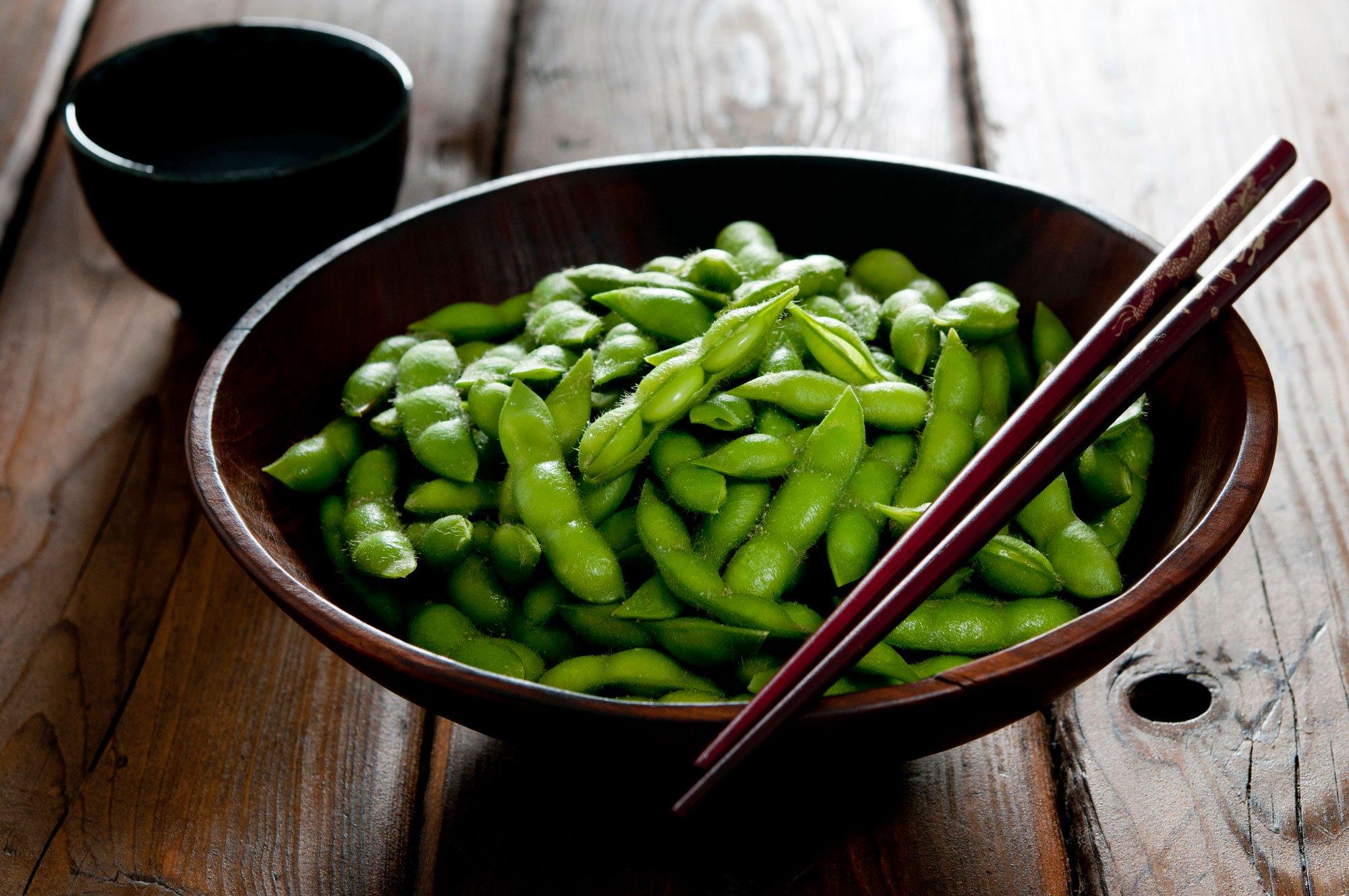bowl of edamame