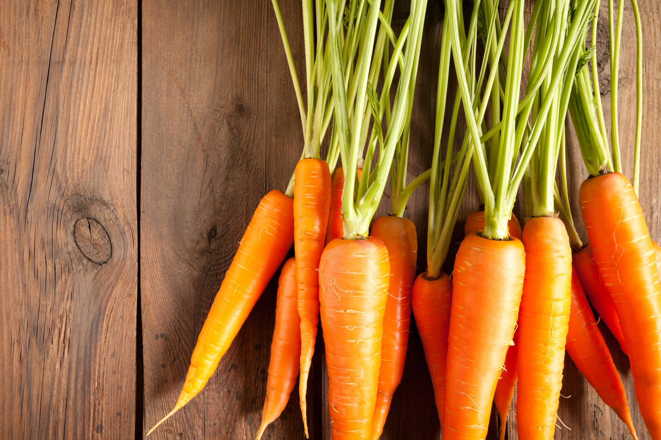 Spring vegetables and fruits: carrots