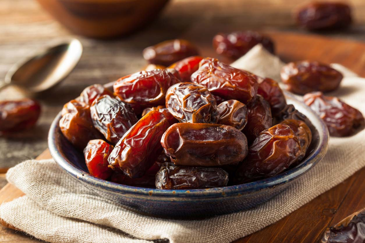 dates in a serving bowl