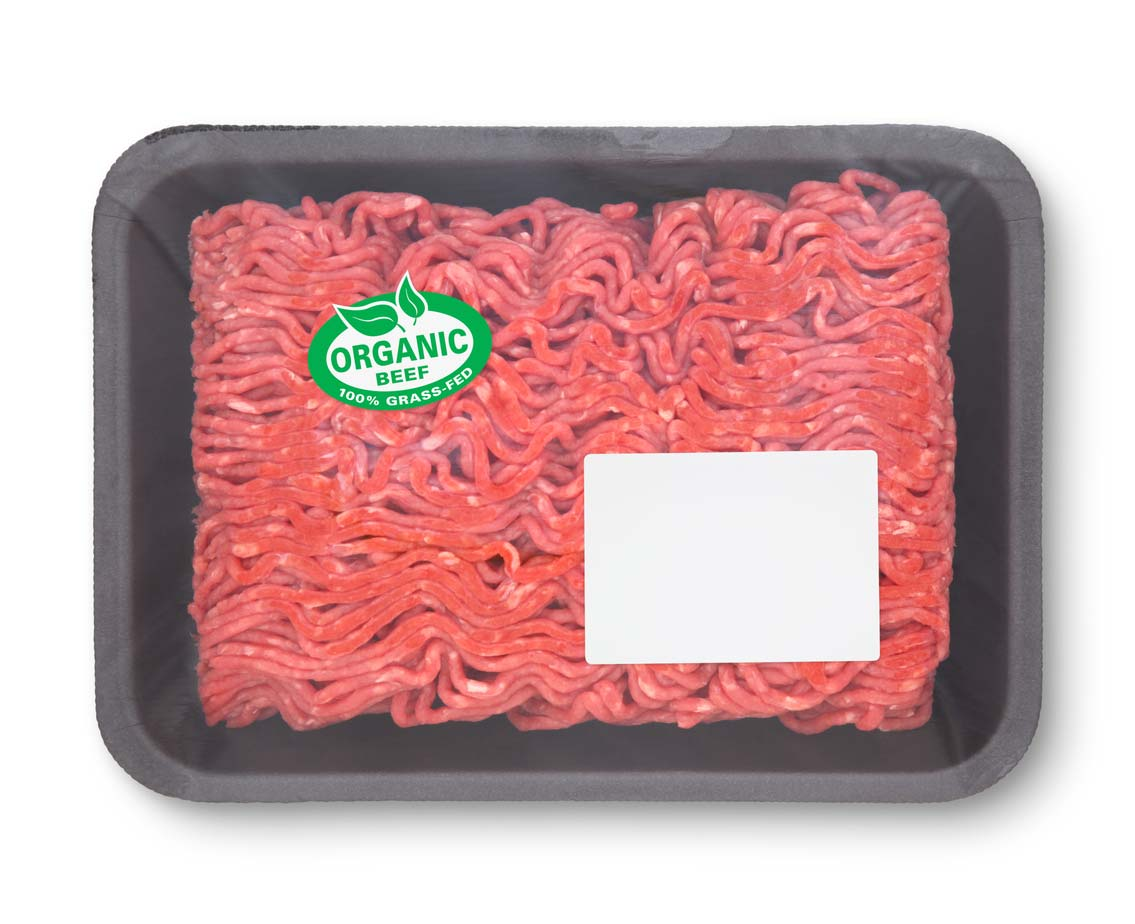 organic ground beef package