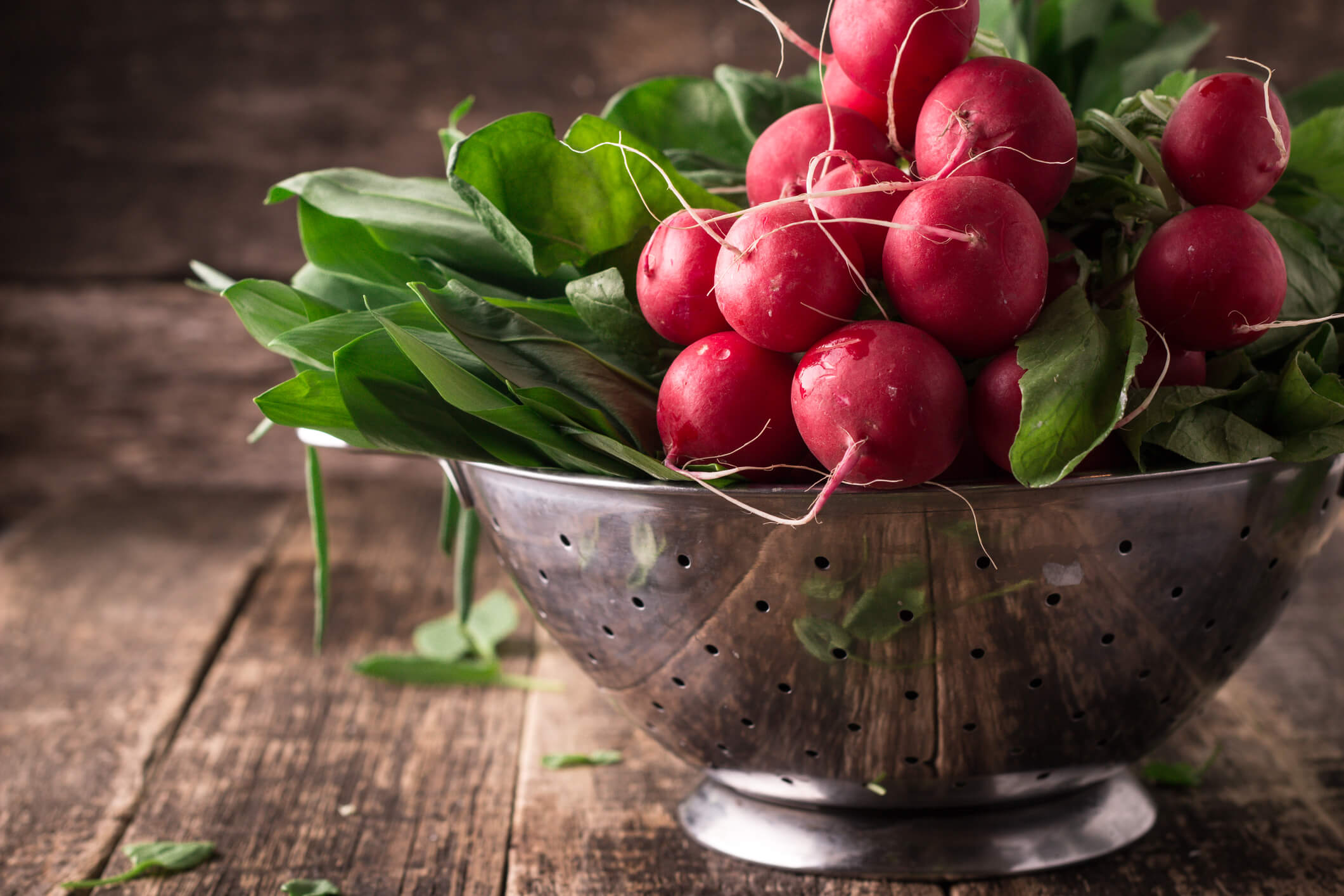 Spring vegetables and fruits: radishes