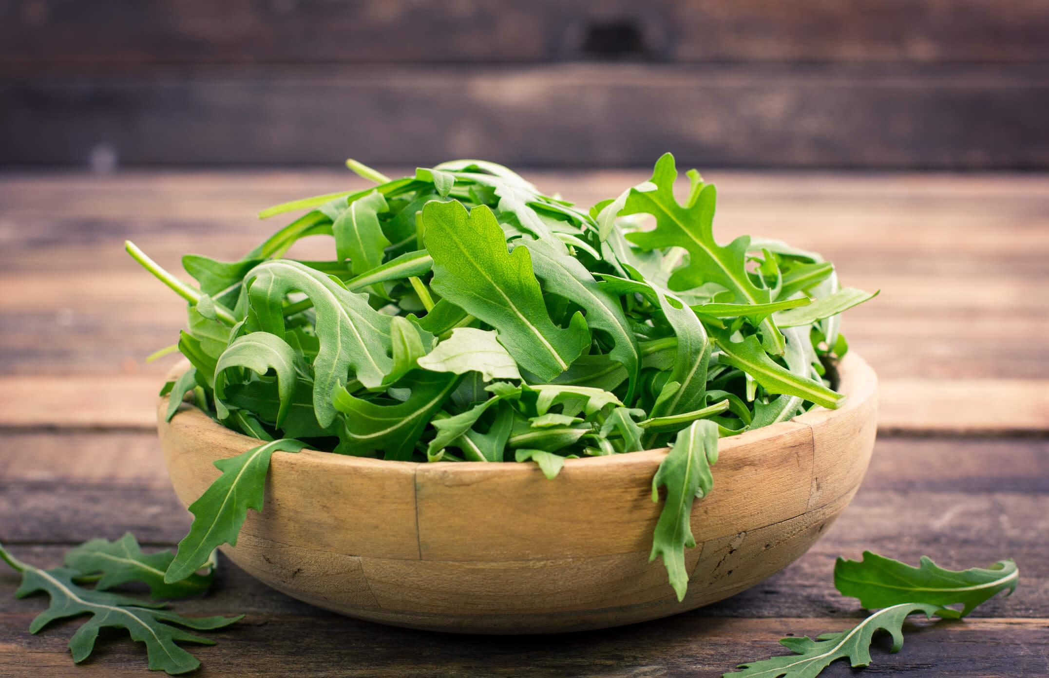 Spring vegetables and fruits: arugula