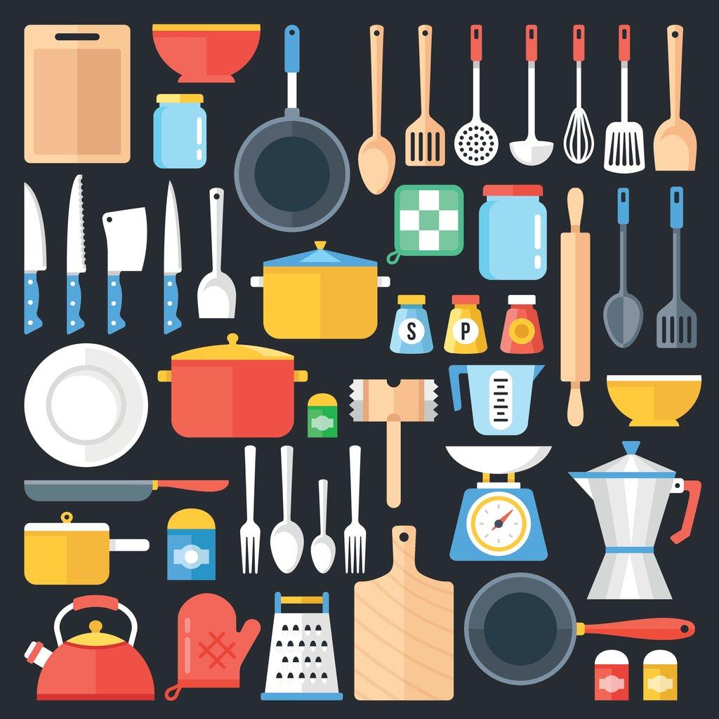 Illustrated kitchen tools