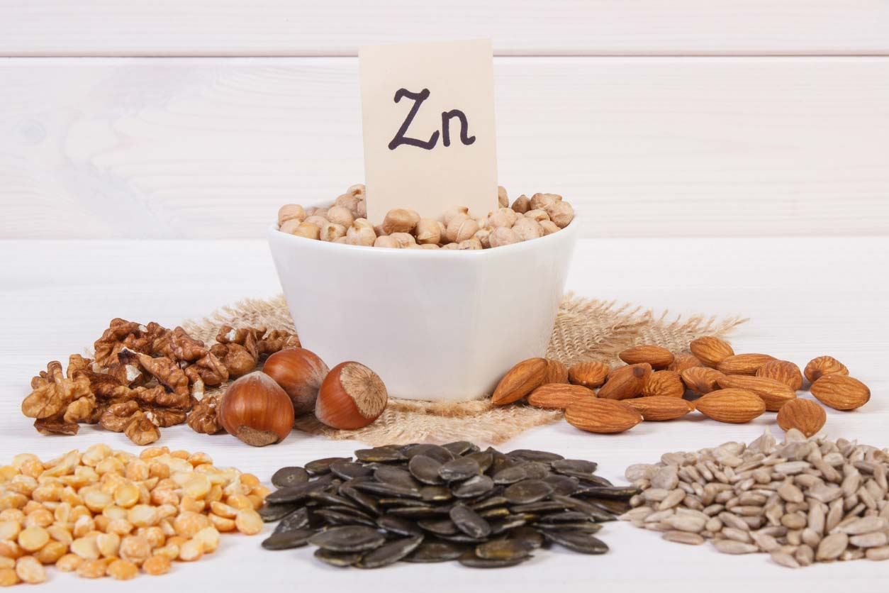 variety of zinc rich foods