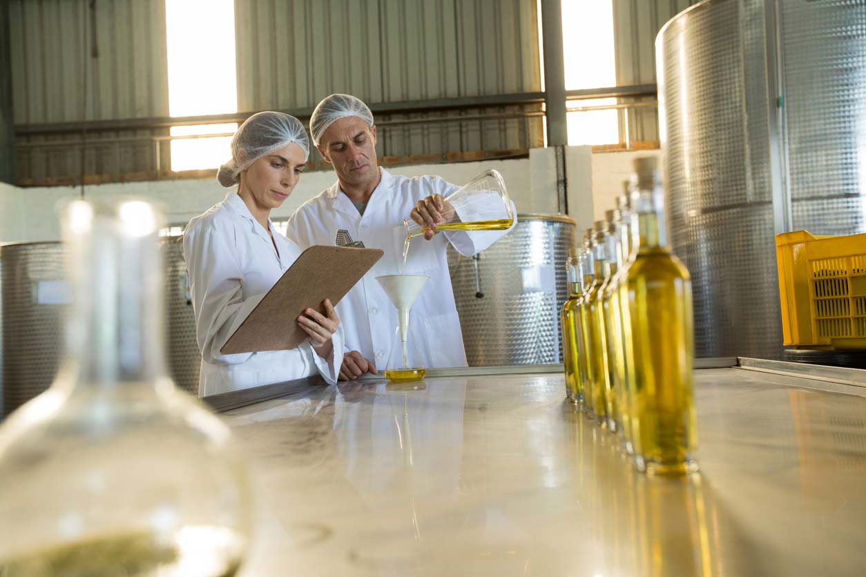 Scientists testing olive oils