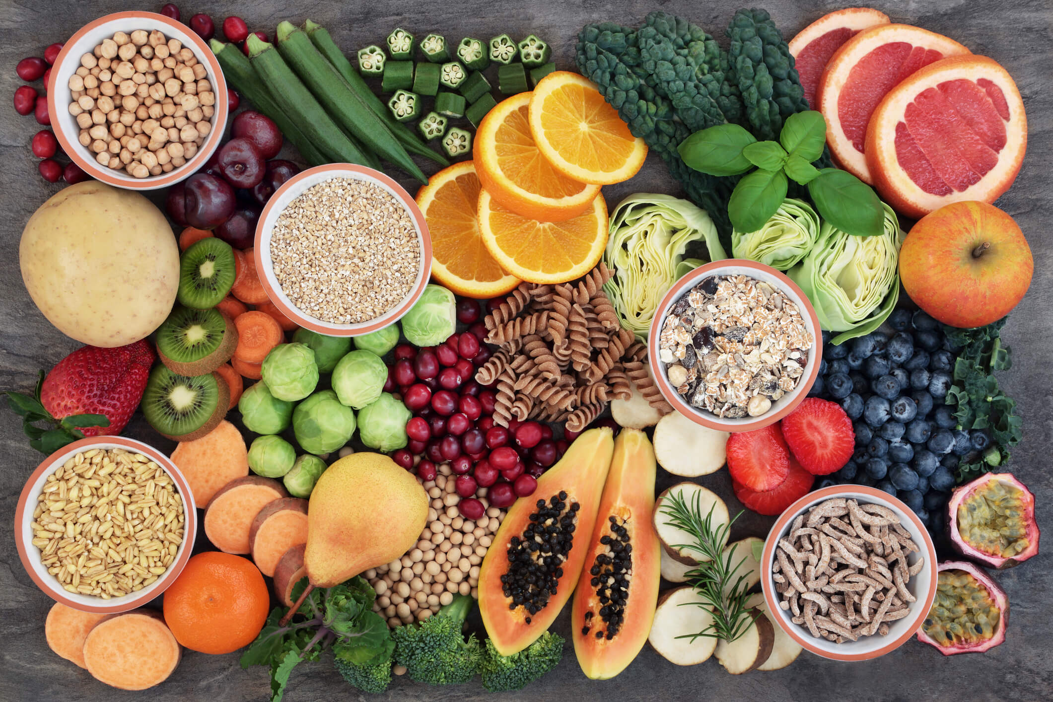 A variety of healthy foods