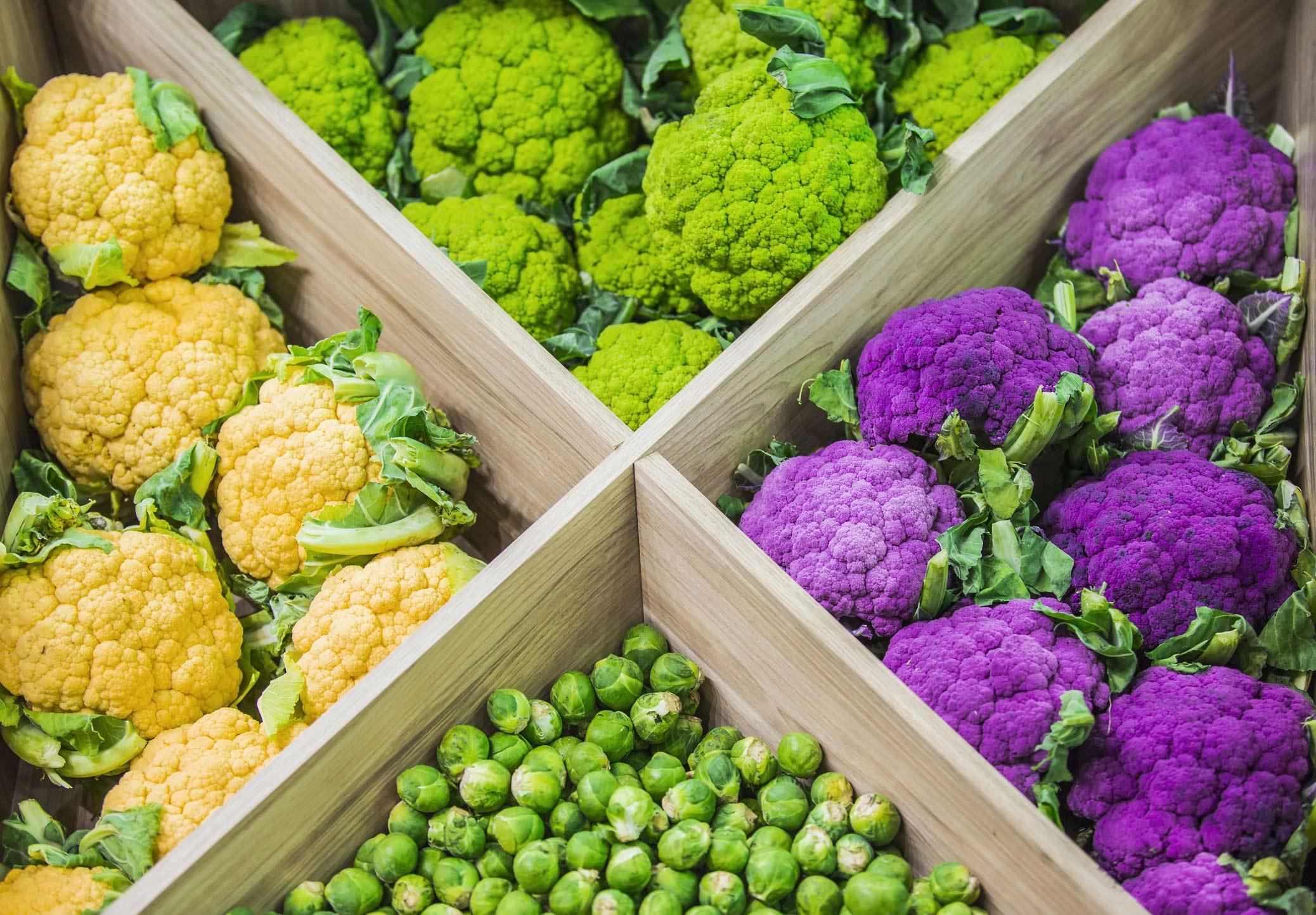 Colorful cruciferous vegetables