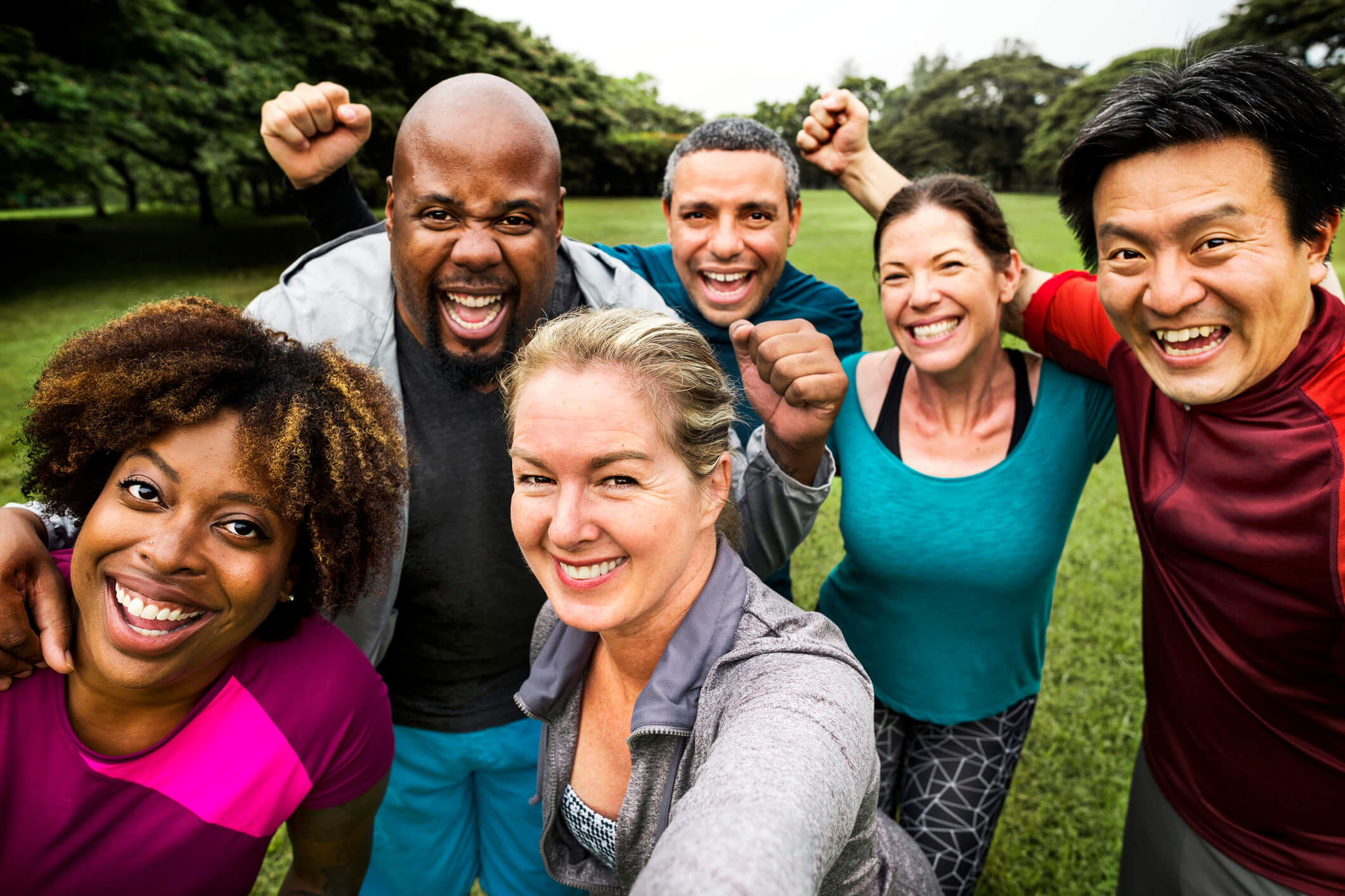 A group of healthy, active people