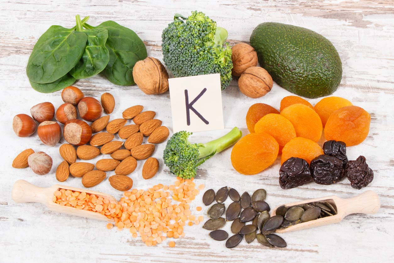 fruits and veggies with vitamin k